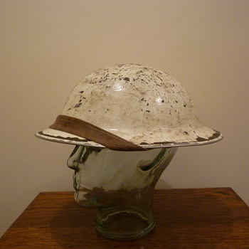 British WWII Winter Cammo steel helmet