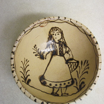 Would Like Opinions On This Mystery  Hand Painted Bowl As To Age & Country Of Origin-Mexico? - Pottery