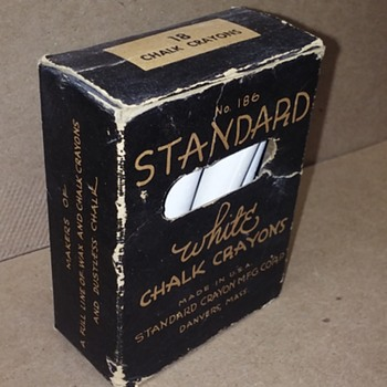 box of STANDARD WHITE CHALK CRAYONS - Office