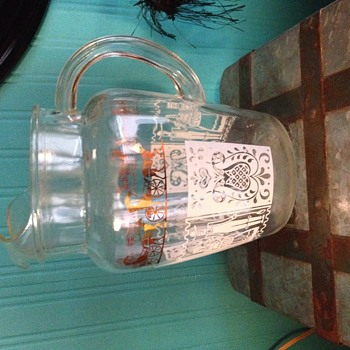 vintage pitcher - Glassware