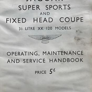 Jaguar 1951-53 Fixed Head Coupe/Super Sports XK-120 Service Handbook