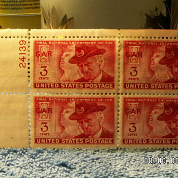 1949 Final National Encampment of the GAR 3¢ Stamps (4) - Stamps