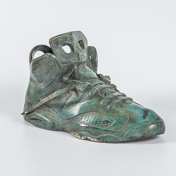 Bronze Nike Air Sneaker - Fine Art