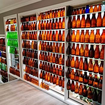 Amber & Green Milk Bottles - Bottles