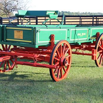 Vintage John Deere Farm Wagon
