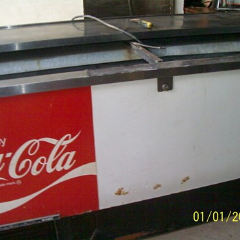 This is an old coca cola beverage cooler made by beverage air any idea of value it has a stainless top and two stainless doors  - Coca-Cola