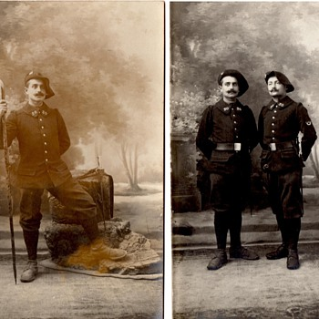 Chasseurs Alpins #2, Real Photo Postcards - Military and Wartime