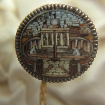 Miracle of precision and accuracy; Micro Mosaic stick pin - Fine Jewelry