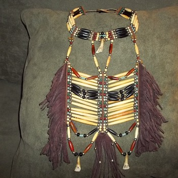 Breastplate with Choker Attached, made in the 1980's - Native American