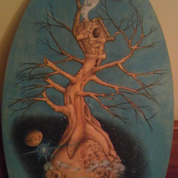 Vern Kittler skim board art