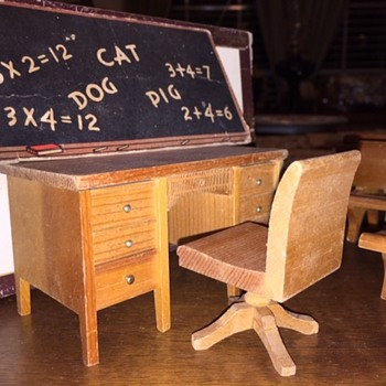 Vintage Mini- School House Furniture - Dolls
