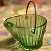 Toothpick holder? Depression Glass Coal Bucket
