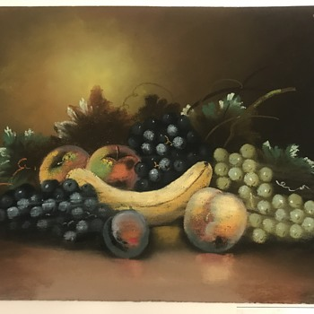 Need help with chalk still life fruit drawing  - Fine Art