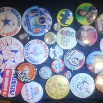 all different kind of very old pins