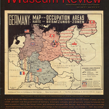 Post WWII Displaced Persons Map - Military and Wartime