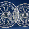 A pair of 'Mirror Plate' salvers by U.S. Glass Company c1904