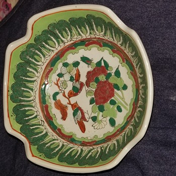 Cabbage & butterfly bowl - Pottery