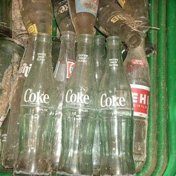 old coke bottles - Coca-Cola