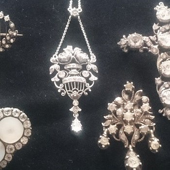 My collection of antique paste jewelry  - Fine Jewelry