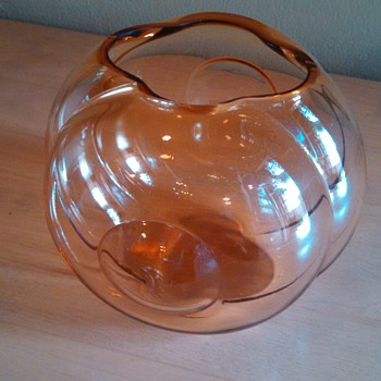 Art Deco Sakier Fishbowl Vase - Art Deco
