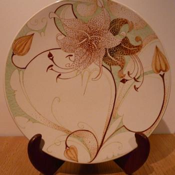 P Decor Cake Plate 351 - Plateelbakkerij Zuid-Holland (PZH). - Pottery