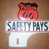 Vintage Phillips 66  License Plate Topper