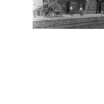 Grandfather's railroad station postcard