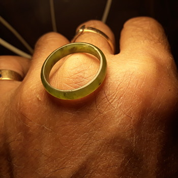 little green ring - glass, or stone? - Fine Jewelry