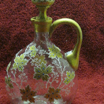 Moser enameled decanter?   - Art Glass