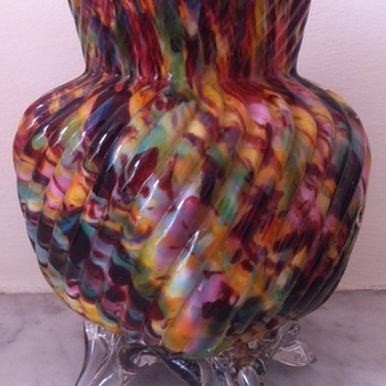 Welz footed bud vase - Art Glass