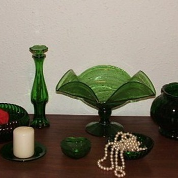 my collection of green glass! - Glassware