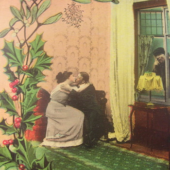 """PEEPING TOM""!..ANOTHER ODD VINTAGE  POSTCARD MAILED FROM OHIO - Postcards"