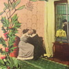 """PEEPING TOM""!..ANOTHER ODD VINTAGE  POSTCARD MAILED FROM OHIO"