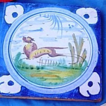 Antique tile - Pottery