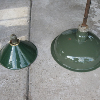 Old Porcelain Light Fixtures - Lamps