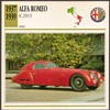 Vintage Car Card - Alfa Romeo 2900B