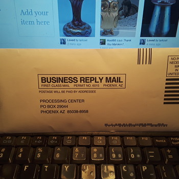 """BUSINESS REPLY MAIL"" - Paper"