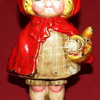Hubley #95 Little Red Riding Hood Doorstop - Tools and Hardware