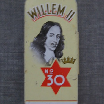 Willem II 1960's cigar tin litho - Tobacciana