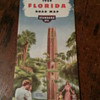 Standard Oil 1949 Florida Road Map