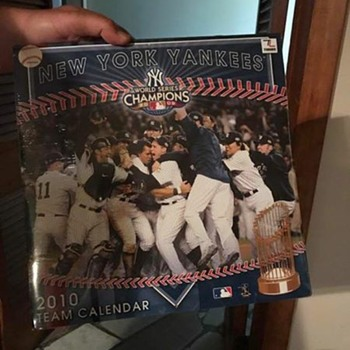 New York Yankees World Series Champion Team 2010 Wall Calendar