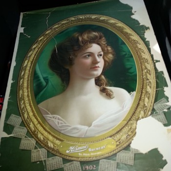Hamm's Beer Lady  Calendar 1902 Litho  - Breweriana
