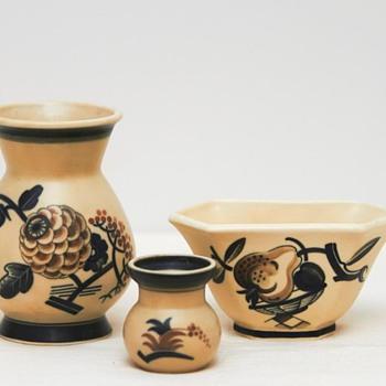 Three Art Deco Vases (Aluminia), 1927-1932 - Pottery