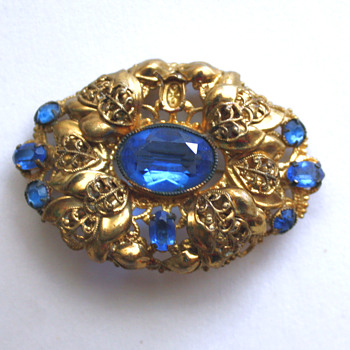 Vintage brooch, Czechoslovakia? - Costume Jewelry