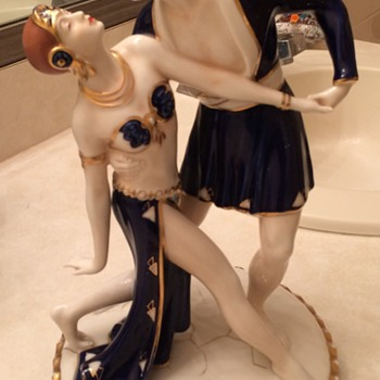 Royal Dux Art Deco Porcelain Figurine - Art Deco