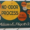 Pre-1920's Cleaning Service Cardboard Trolley Car Advertisement Sign