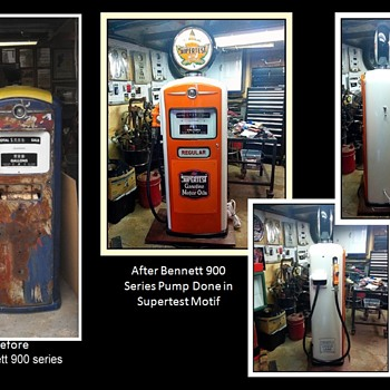 Some of my restored gas pumps 1 - Petroliana