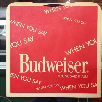 Budweiser 1971 record  - Breweriana