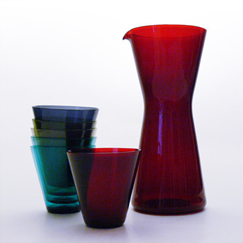 Pack of KARTIO 2744 glasses, Kaj Franck (Nuutajarvi Notsjö, 1955) - Art Glass