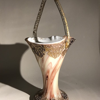 Early Loetz Onyx Basket C1890 - Art Glass
